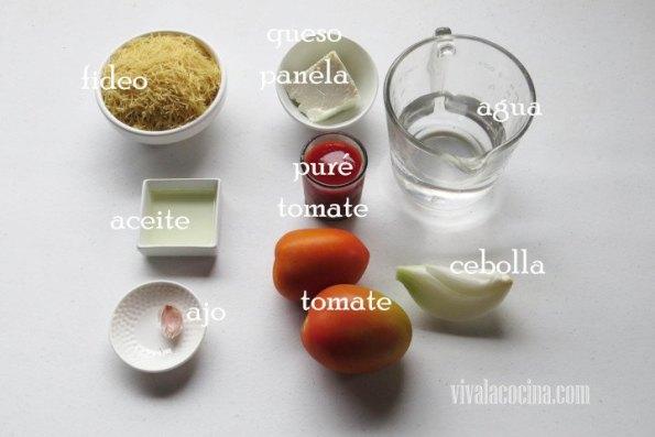 Ingredientes para preparar la receta de Frituras de Calabacín con Queso Parmesano