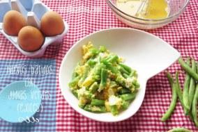 Receta de Huevos batidos con Ejotes o Judías Verdes