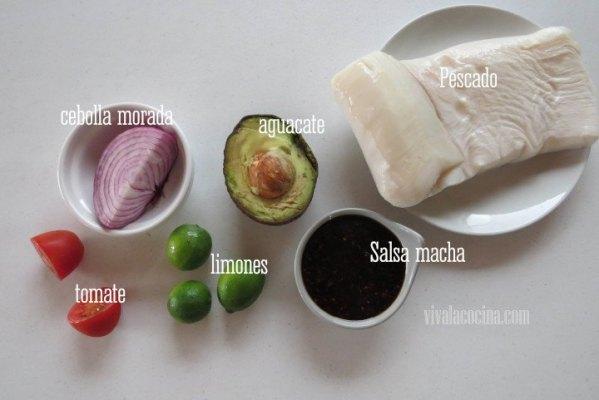 Ingredientes para el Pescado en Salsa Macha