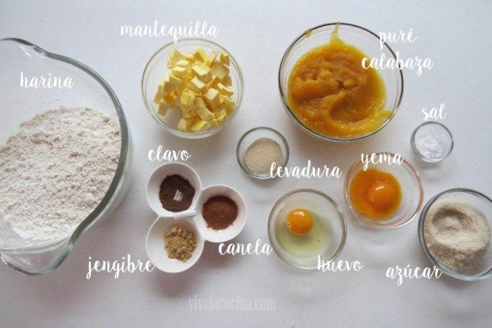 Ingredientes Brioche de Calabaza de Castilla
