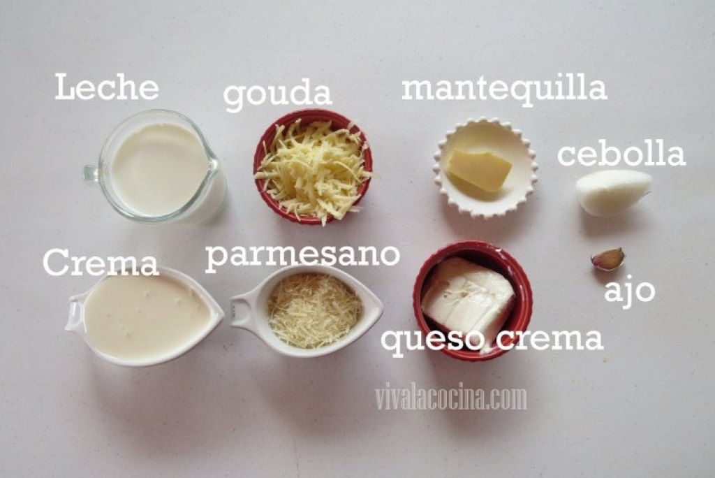Ingredientes Crema de Tres Quesos