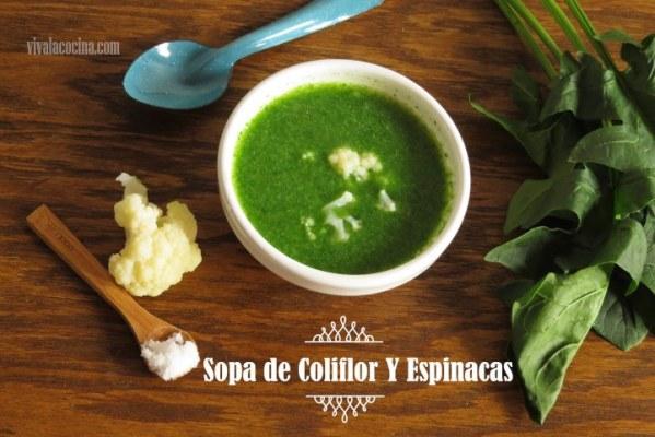 Sopa con Espinacas