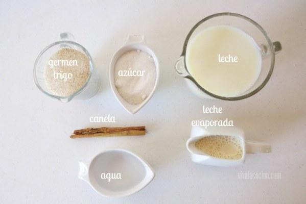 Ingredientes para la receta de Crema dulce de Germen de Trigo