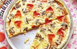 Receta de Pizza de Pepperoni y Champiñones para San Valentín