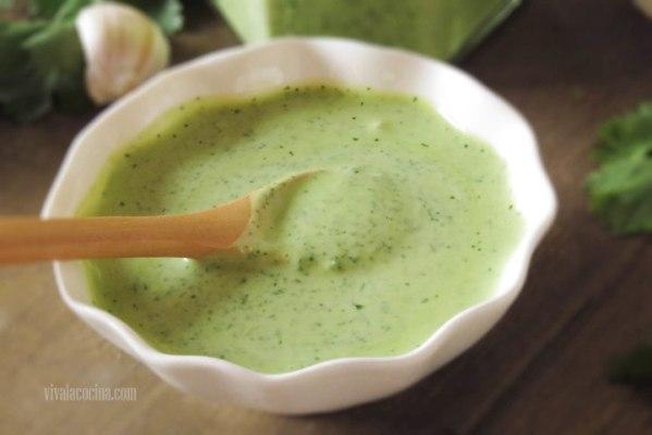 Cómo hacer Aderezo con cilantro