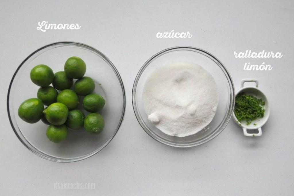 Ingredientes para la Mermelada de Limón Verde casera