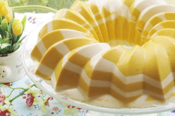 Cómo hacer Gelatina de Mango y Yogur
