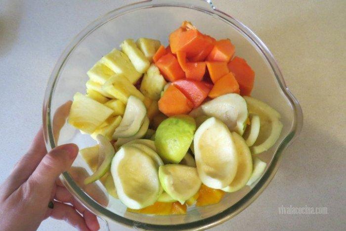Fruta mezclada para el Agua de Frutas