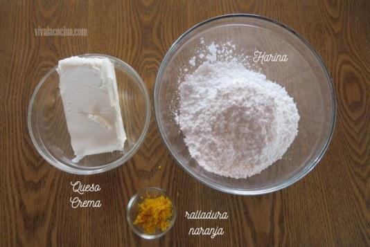 Ingredientes Queso para los Cupcakes de Naranja