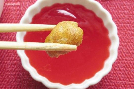 pollo rebozado estilo chino con salsa agridulce