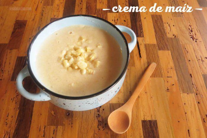 crema de maíz o elote tierno