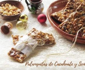 Palanquetas caseras de cacahuate y semillas:  Receta y vídeo