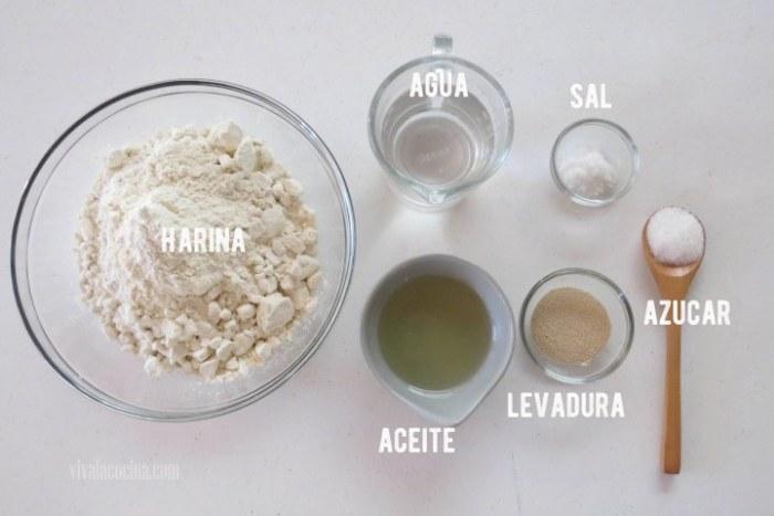 ingredientes de la masa para pizza de salami