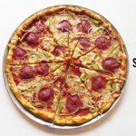 Pizza de Salami y Pimientos: Receta fácil. Comida completa y deliciosa