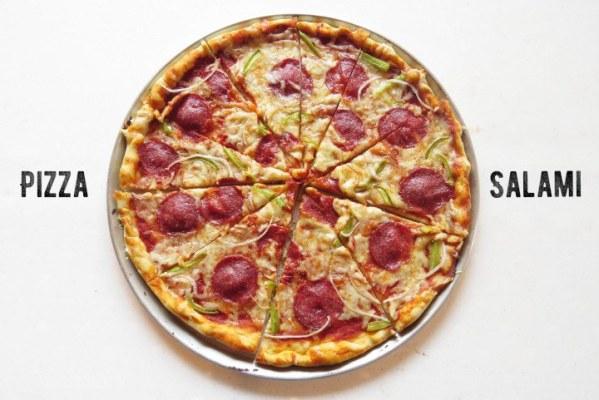Receta de Pizza Casera de Salami