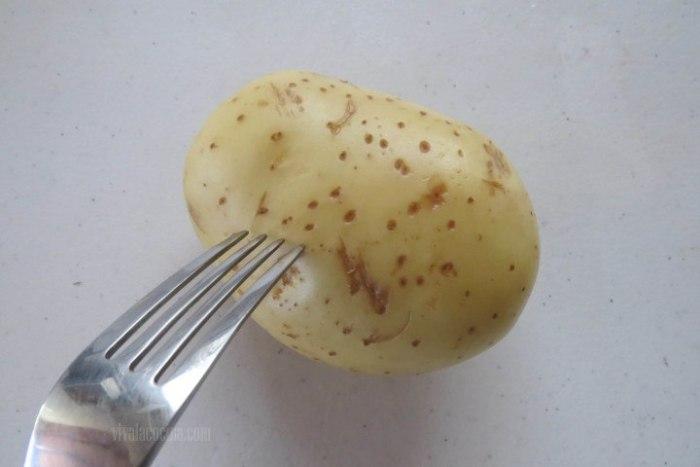 patatas rellenas: pasos previos