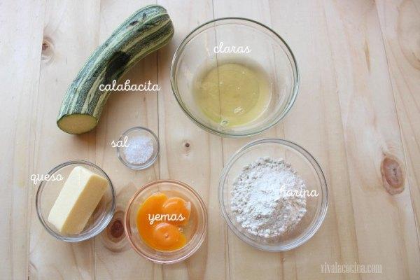Ingredientes para la receta de Calabacin