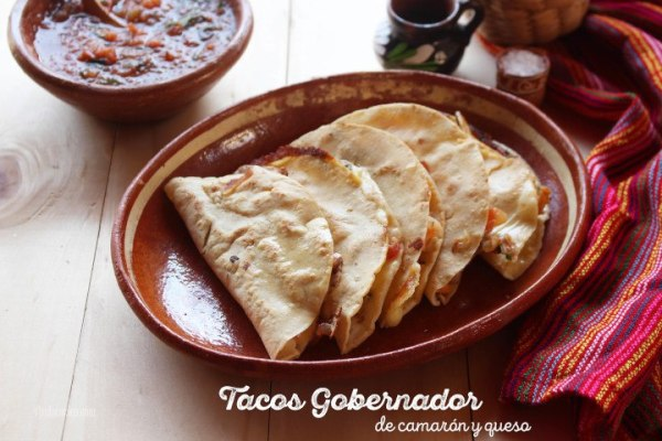Receta de Tacos Gobernador o Tacos de Camarón
