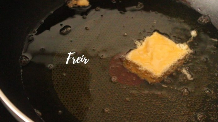 freír leche frita