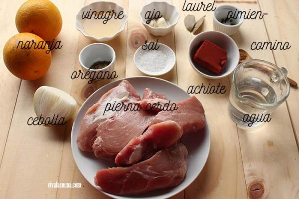 cochinita ingredientes