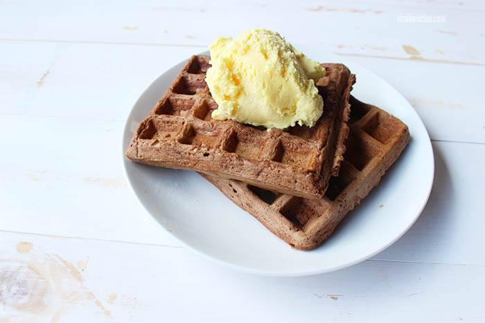Receta de Waffles de Chocolate