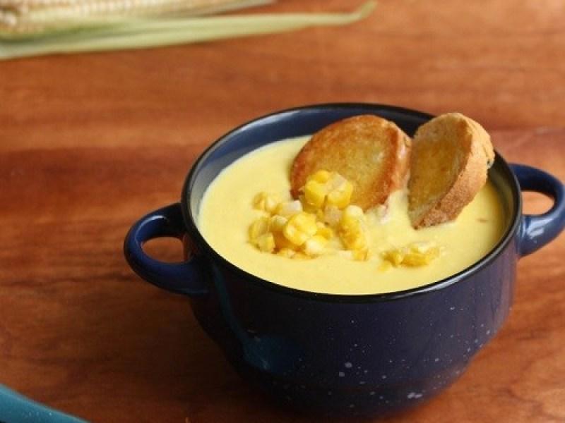 Crema de maíz amarillo