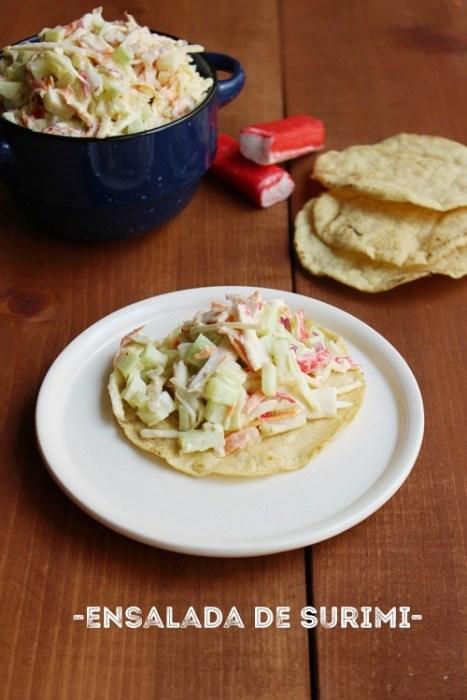 rica y fácil ensalada de surimi