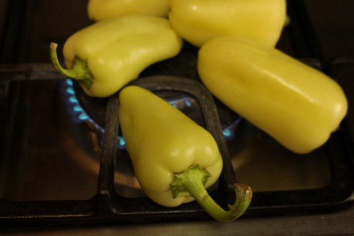 Como asar los chiles directamente en el fuego