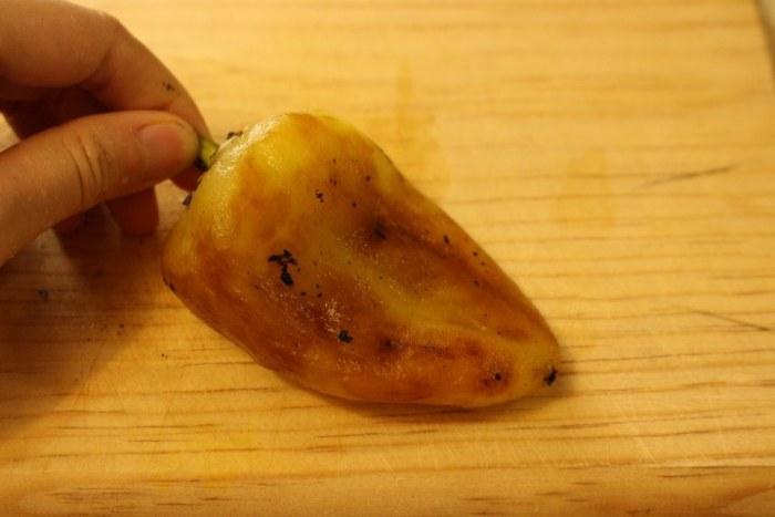 Chile caribe asado y sin piel