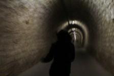 Wettlauf durch den Tunnel zwischen den Salinen und Portoroz. 2015