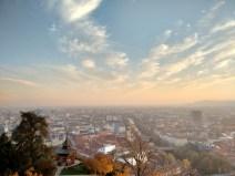 Blick vom Schlossberg auf Graz