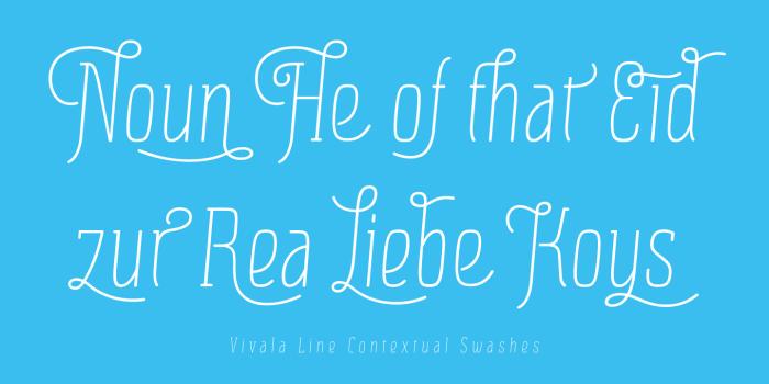 Vivala Line Font Poster