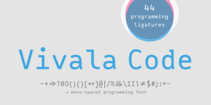 Vivala Code Programming Font