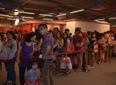 Fans thrilled about Hello Kitty's apperance on the first day