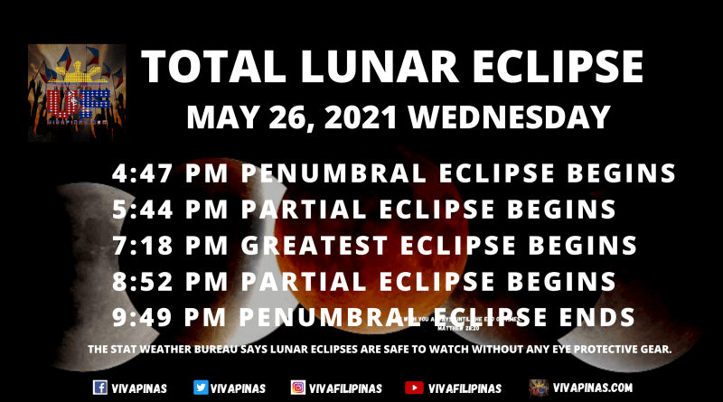 May 26 - Total Lunar Eclipse