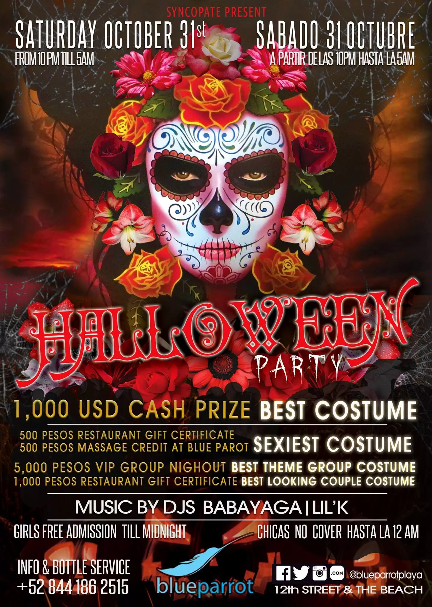 Halloween Party @ Blue Parrot – Viva Playa