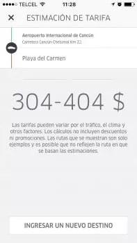 Uber playa del carmen