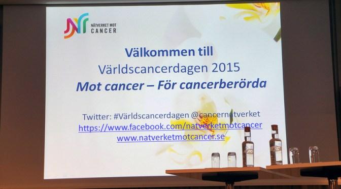 Referat om patientlagen från Världsacancerdagen
