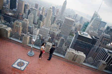 New York City from the top of the Chrsyler Building, USA