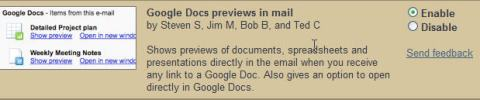 Enabling Google Docs Preview in mail