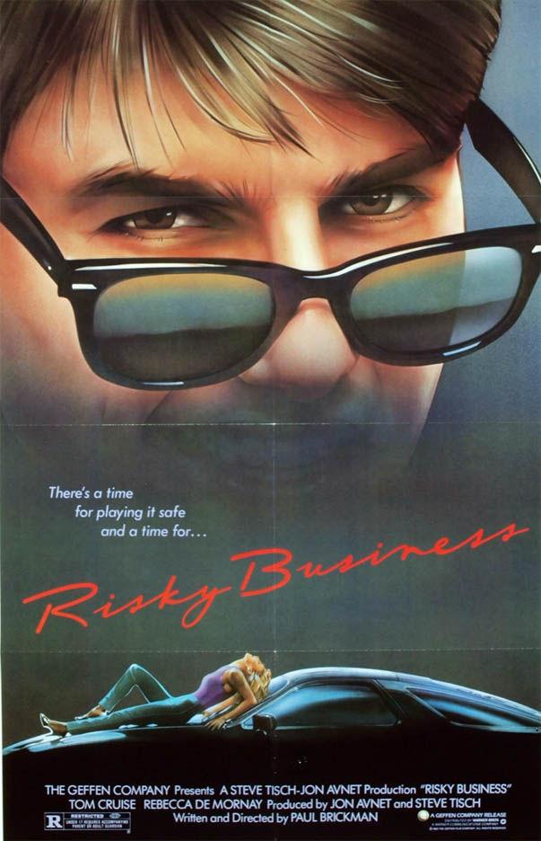 Rayban sur l'affiche de Risky Business