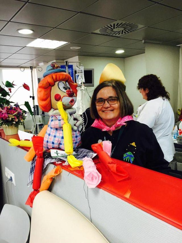 Foto Fallas Voluntarios AECC Hospital Clínico