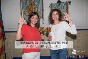 Mar y Raquel os invitan a participar en #sinestesiafallera