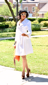 Trench Coat dress + Cloche hat Posted by Vivellefashion
