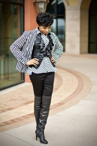 Polka dots + stripes-match made in heaven