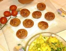 Queques de Legumes com Caril de Couve-Flor