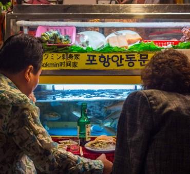 O colorido Mercado de Gwangjang em Seul