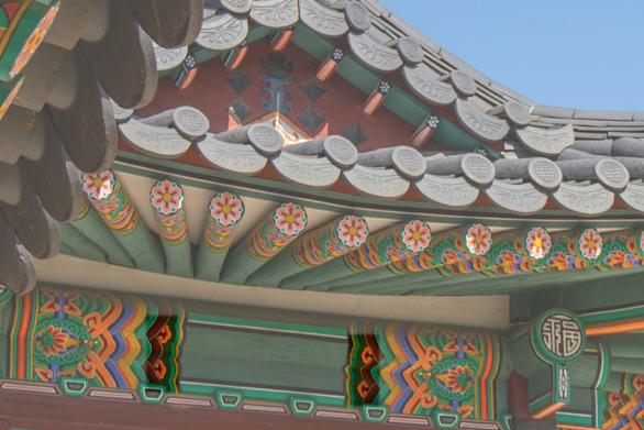 Dentro do Palácio Gyeongbok (Gyeongbokgung)