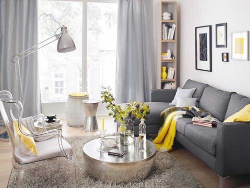 Yellow And Gray Living Room Pinterest. accessories licious yellow ...