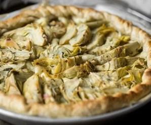 Torta vegana ai carciofi e spinaci